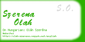 szerena olah business card